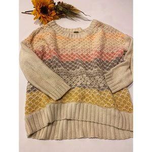 FREE PEOPLE > Striped Knit Sweater